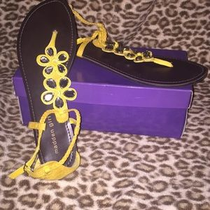 Madden Girl Yellow flat sandals